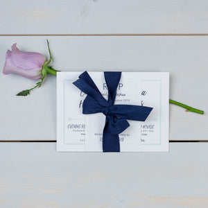 wedding stationery suite, luxury wedding invitations, ribbon bow, PaperLove inc.