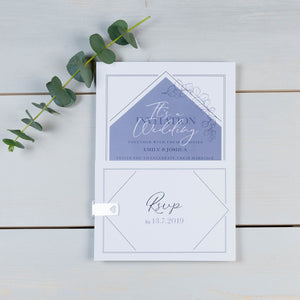 Diamond Eucalyptus Wedding Invitation Suite