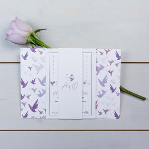 Luxury Wedding Invitations, Wedding Stationery, Fallen For You, Skyline, Flutter, PaperLove inc.