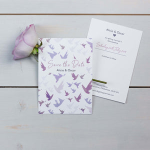 Save The Date, Wedding Stationery, Fallen For You, Skyline, Flutter, PaperLove inc.