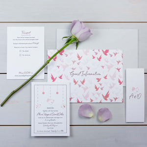Luxury Wedding Invitations, Wedding Stationery, Fallen For You, Woodland, Flutter, PaperLove inc.