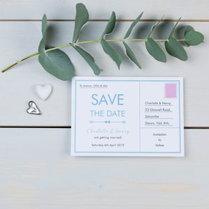 Save The Date, Wedding Stationery, Postcard, Love Note, Coastal, PaperLove inc.