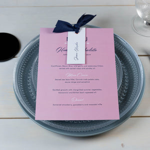 Rose Garden Ribbon Place Card