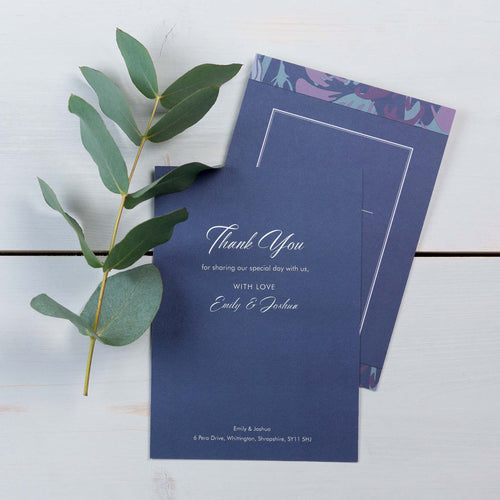 Thank You Cards, Wedding Stationery, Rose Garden, Woodland, PaperLove inc.
