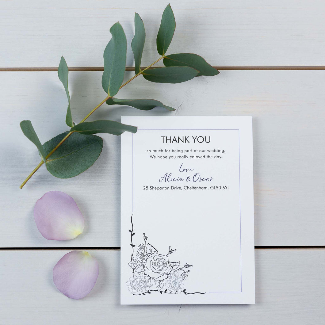 Thank You Cards, Wedding Stationery, You Complete Me, Botanical, PaperLove inc.