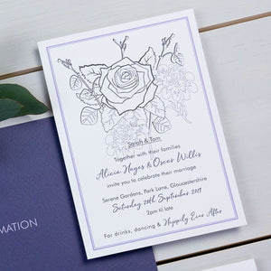 wedding stationery, luxury wedding invitations, floral, roses, PaperLove inc.