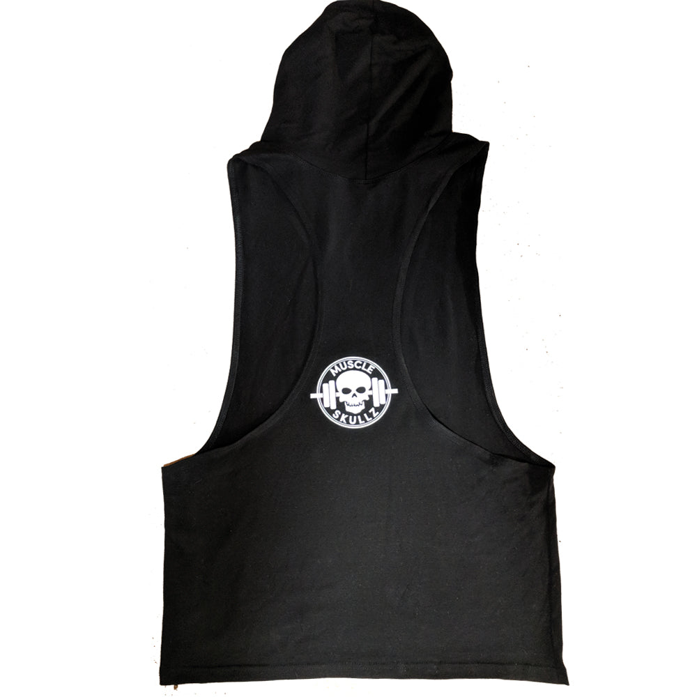 MUSCLE SKULLZ MEN'S STRINGER HOODIE - BLACK