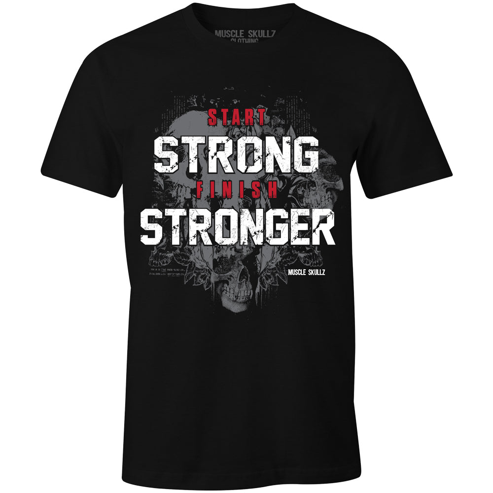 START STRONG FINISH STRONGER TEE