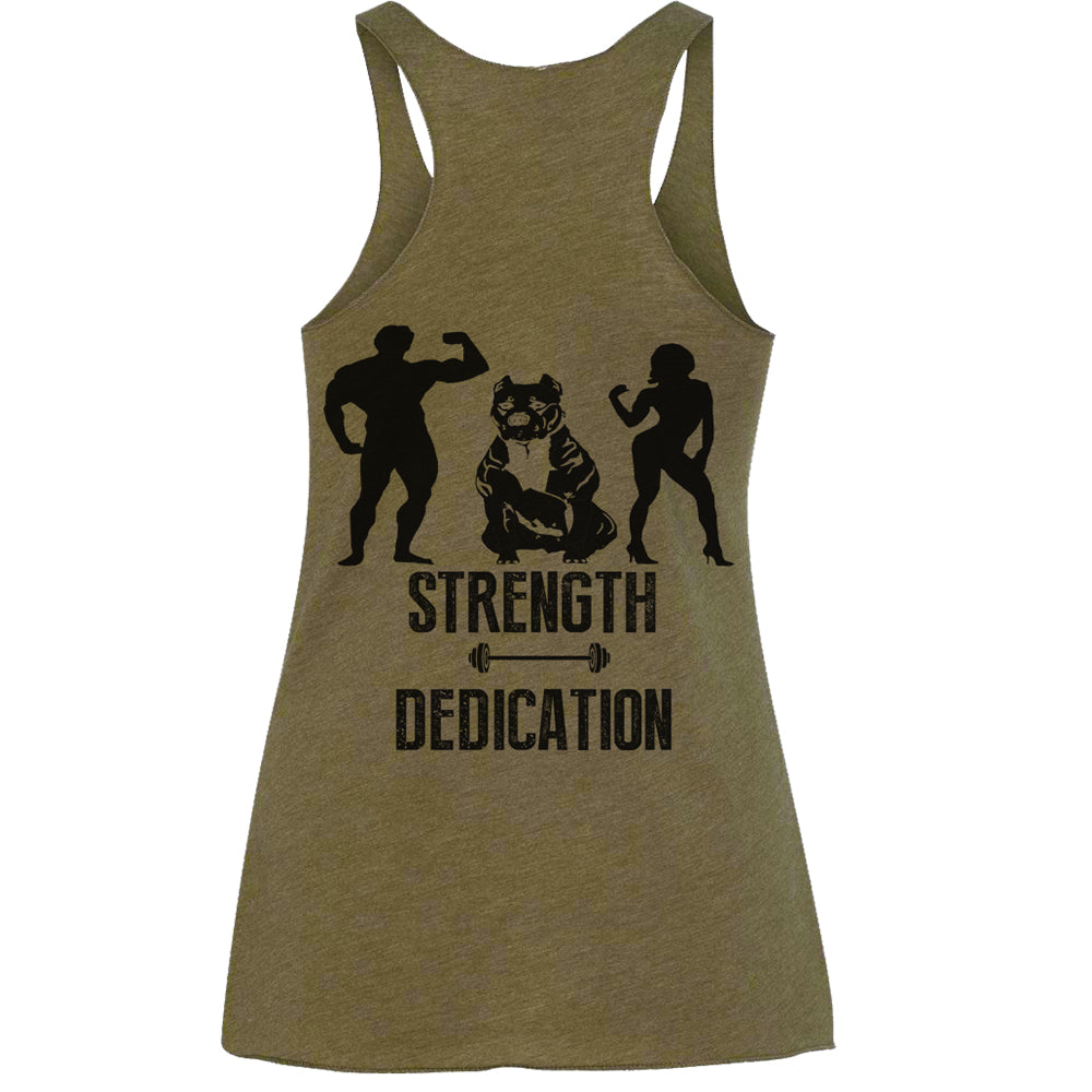 STRENGTH DEDICATION RAW RACERBACK TANK