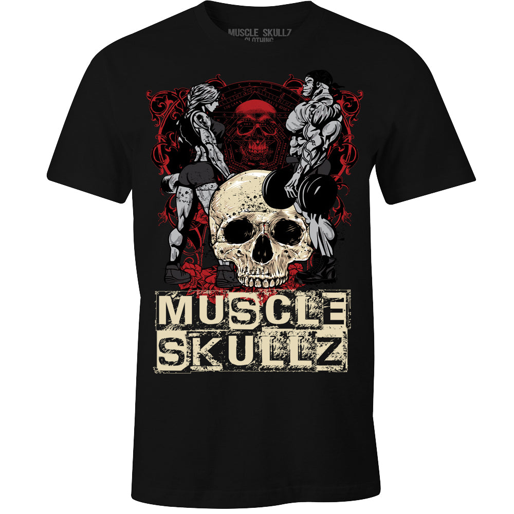 MUSCLE SKULLZ BODYBUILDERS MEN'S TEE