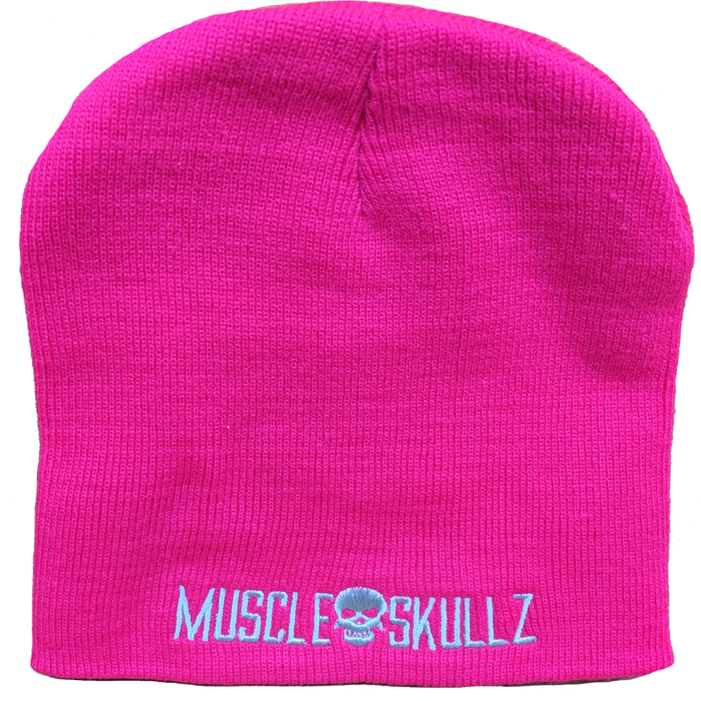 MUSCLE SKULLZ BEANIE - HOT PINK