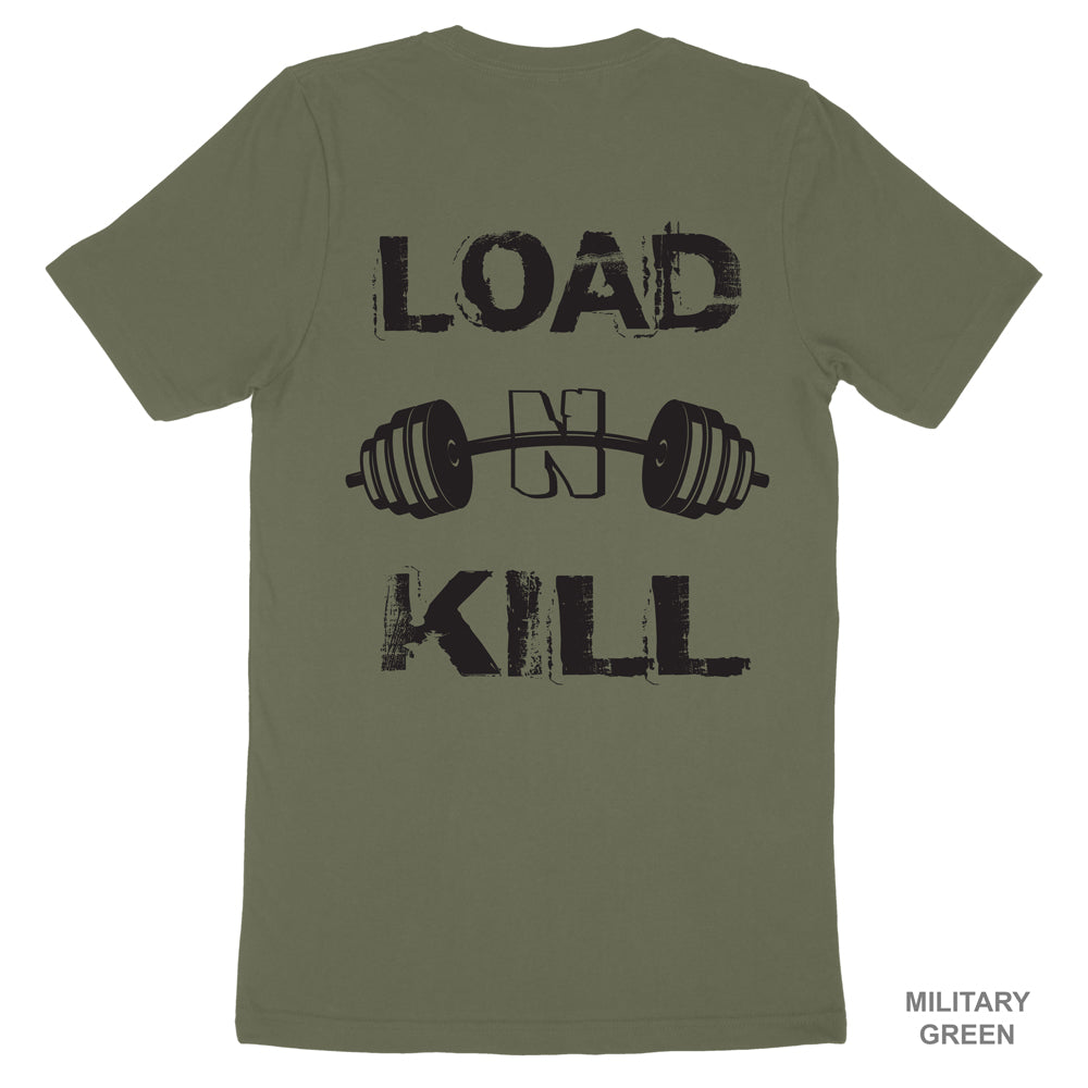 LOAD N KILL - Men's Fitted Premium Cotton Tee (multiple colors)