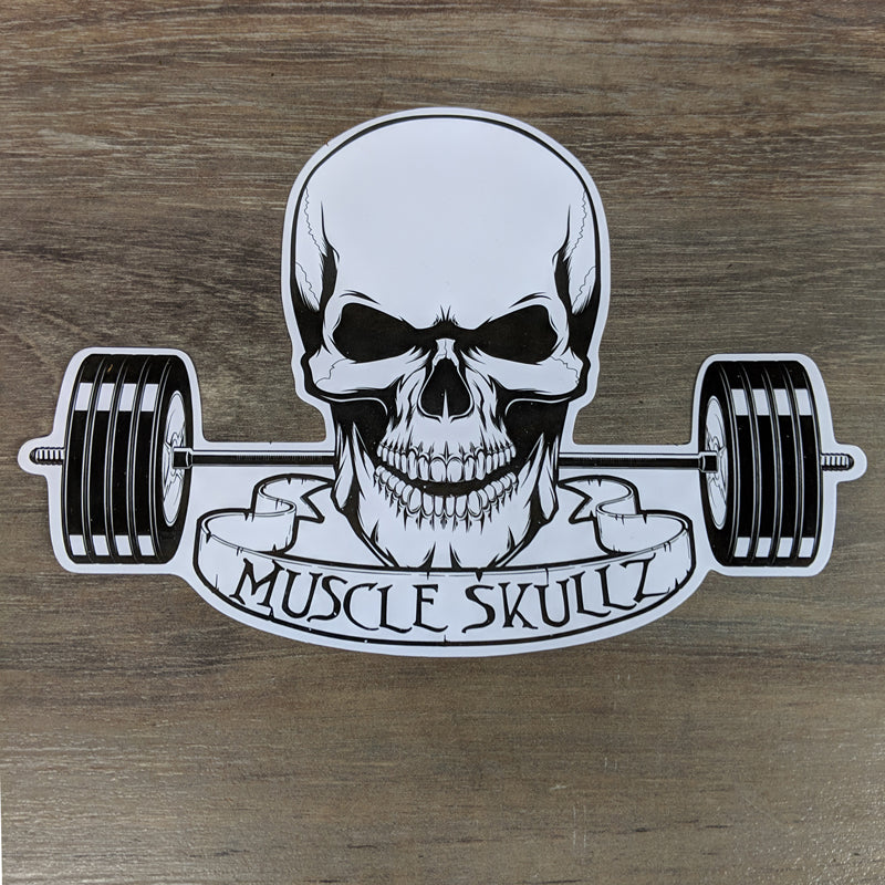 Muscle Skullz Decal - 8""