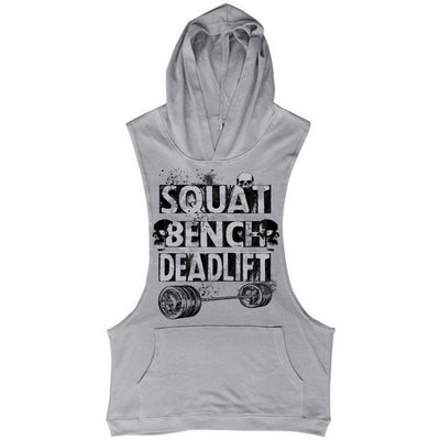 SQUAT BENCH DEADLIFT SLEEVELESS HOODIE