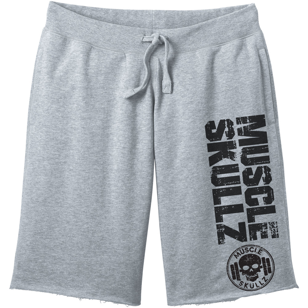 MUSCLE SKULLZ MEN'S GRAY FLEECE SHORTS - V2