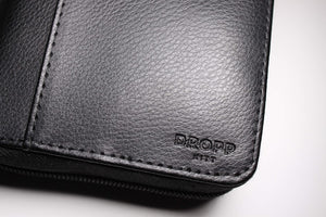 Dropp Kitt diabetic leather supplies carrying case kit black logo