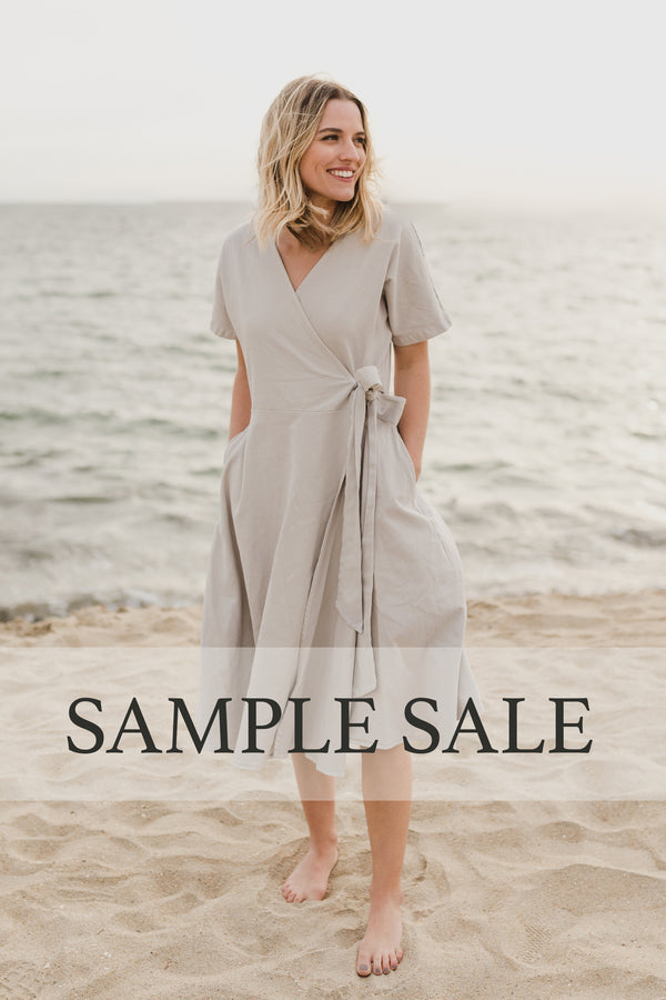SAMPLE SALE | Kindred Wrap Dress - Stone Grey