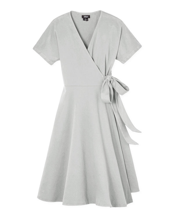 Women's Kindred Wrap Dress in Stone Grey