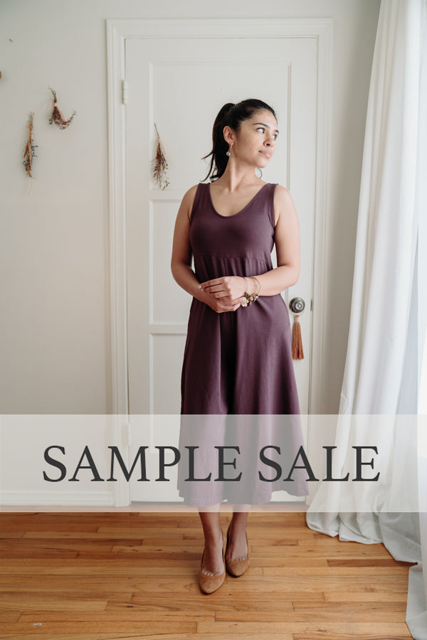 Sample Sale |  Lakeside Wide Leg Jumpsuit - Dark Plum