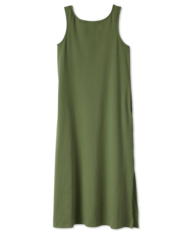 Fortuna Column Dress - Cedar Green