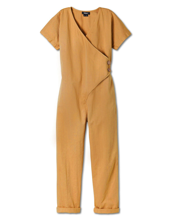 Women's Kindness Jumpsuit in Vintage Mustard
