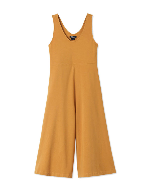Women's Lakeside Wide Leg Jumpsuit in Vintage Mustard