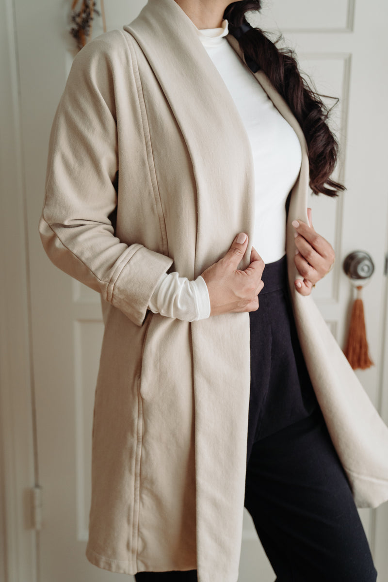 Foster Fleece Coat - Light Sand