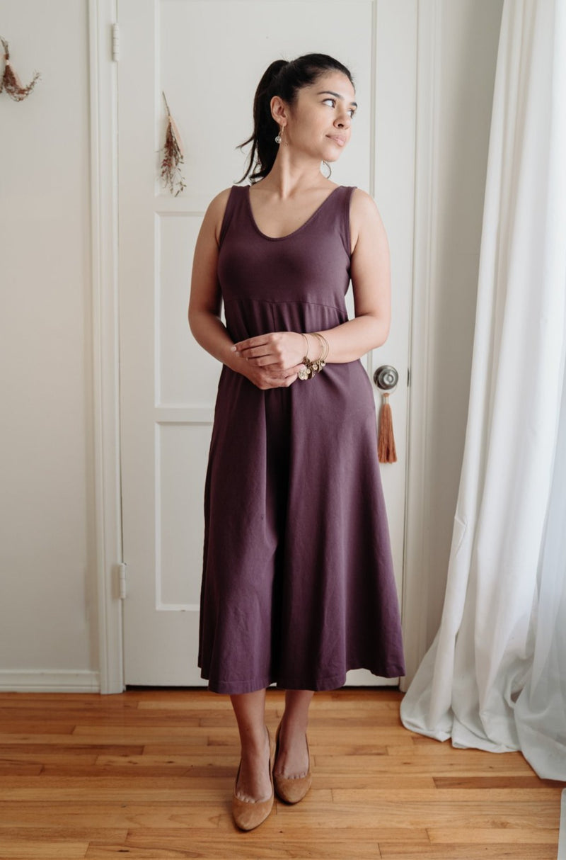 Lakeside Wide Leg Jumpsuit - Dark Plum