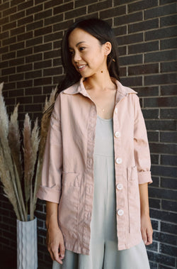 Painters Button Jacket - Tea Rose