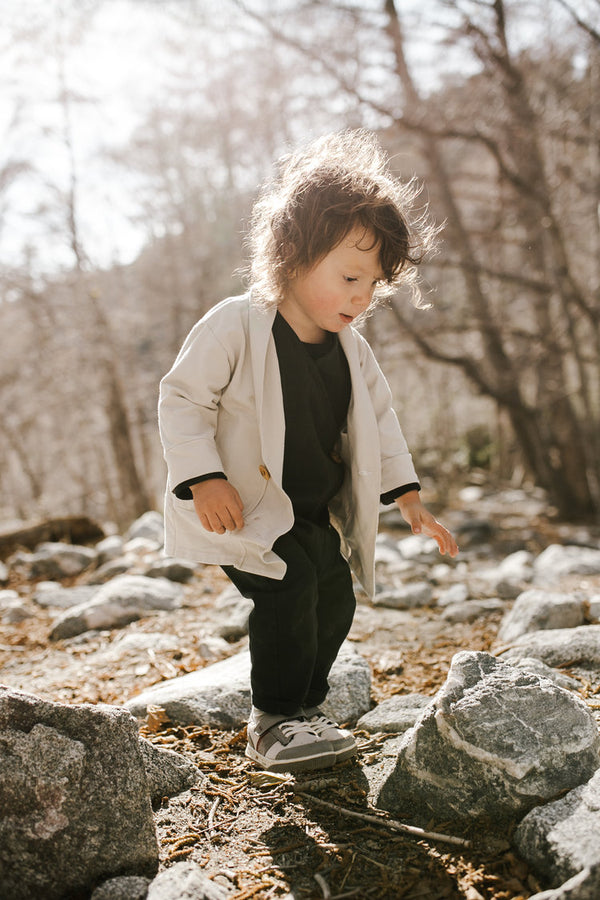 Toddler Girl's Mini Haven Jacket in Stone Grey