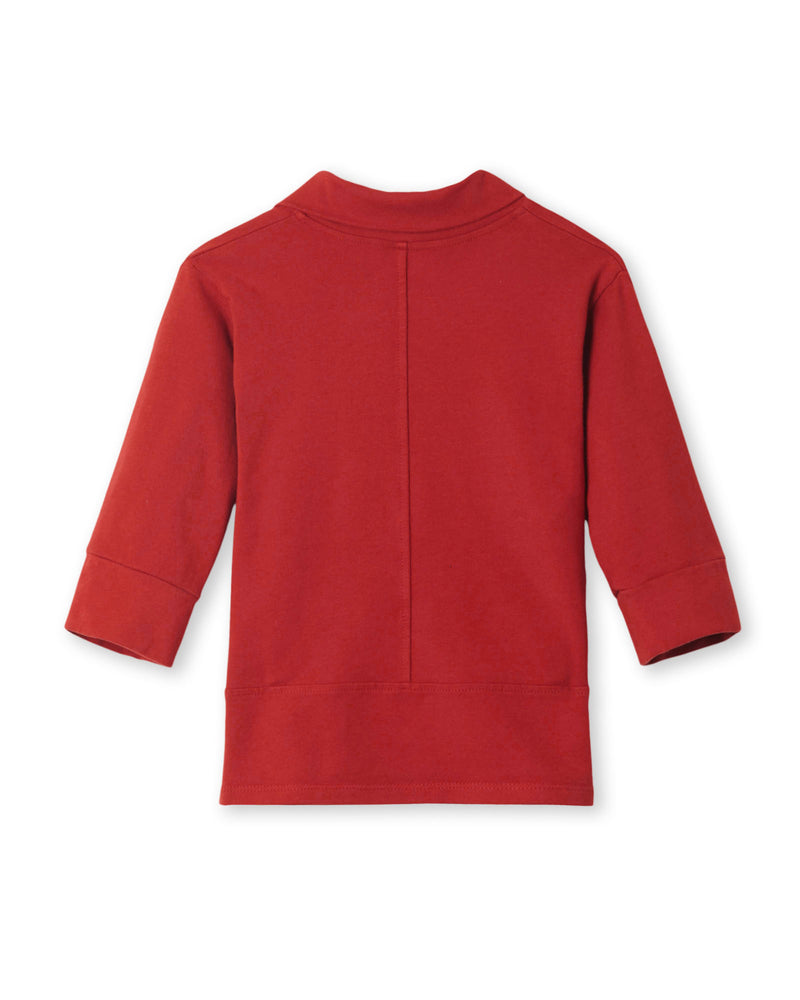 Toddler Girl's Mini Haven Jacket in Rust Red