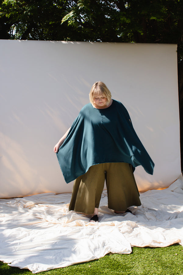 Belle Poncho - Rich Teal