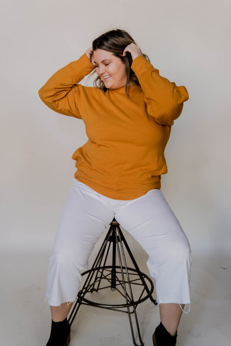 Cozy Fleece Sweatshirt - Turmeric