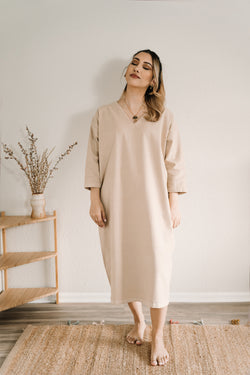Cadence Cocoon Dress - Light Sand