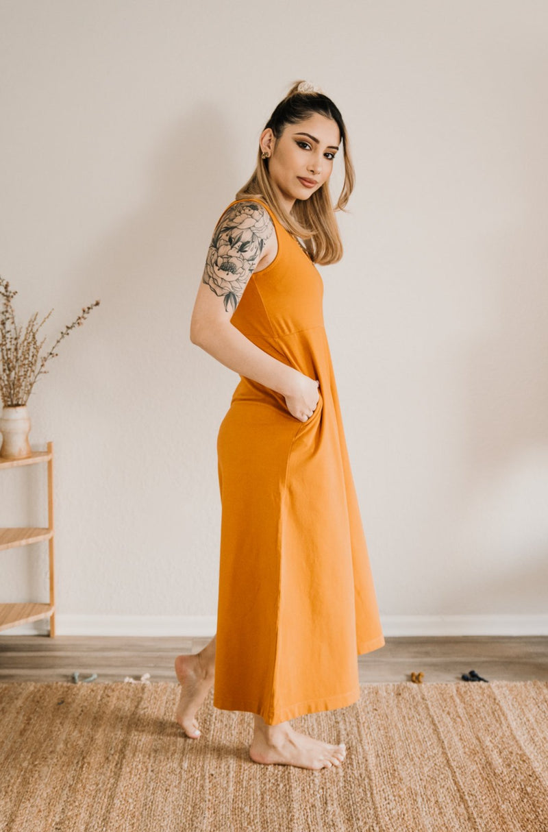 Lakeside Wide Leg Jumpsuit - Turmeric