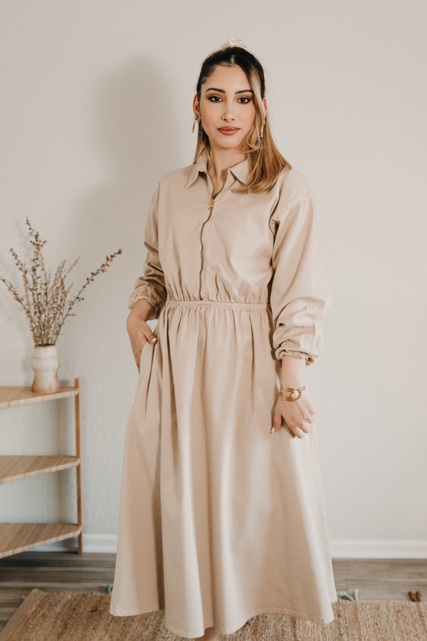 Maison Midi Dress - Light Sand