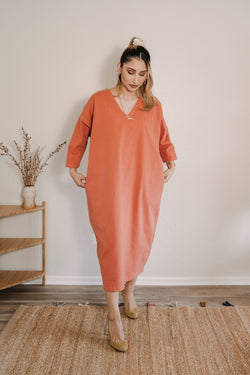 Cadence Cocoon Dress - Bisque