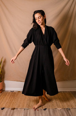 Sedona Dolman Sleeve Jumpsuit - True Black