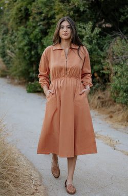 Maison Midi Dress - Light Copper