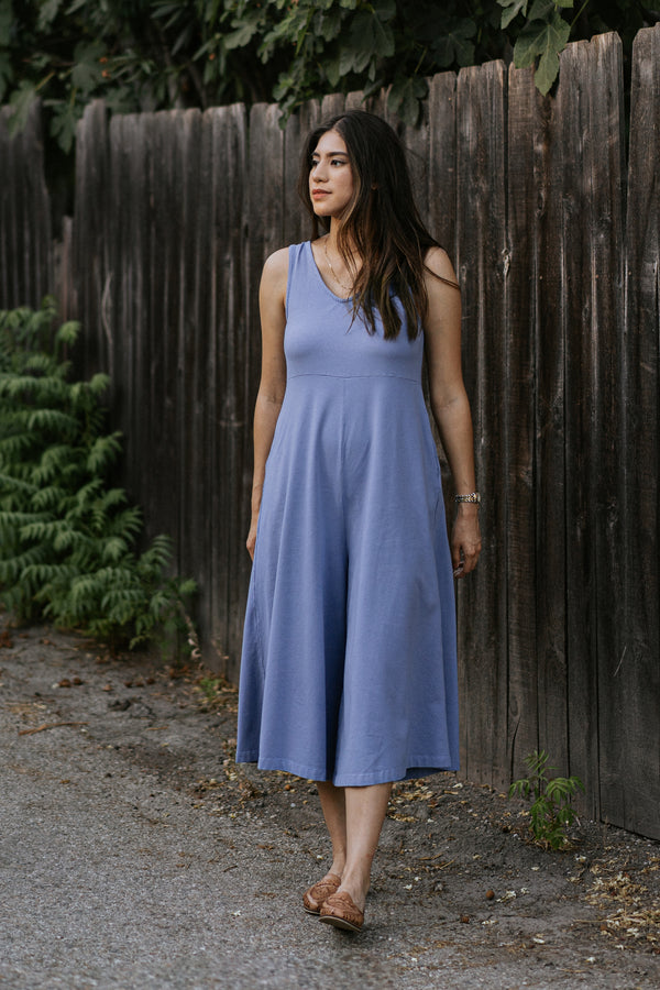 Lakeside Wide Leg Jumpsuit - Periwinkle