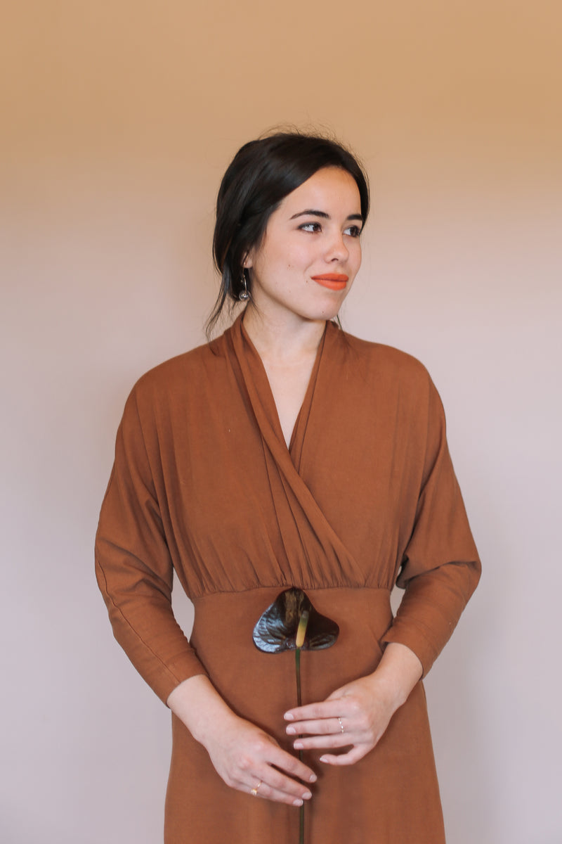 Sedona Dolman Sleeve Jumpsuit - Saddle Brown
