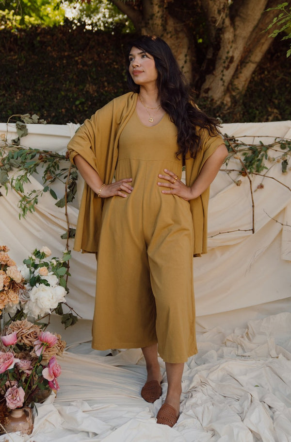 Lakeside Wide Leg Jumpsuit - Ochre
