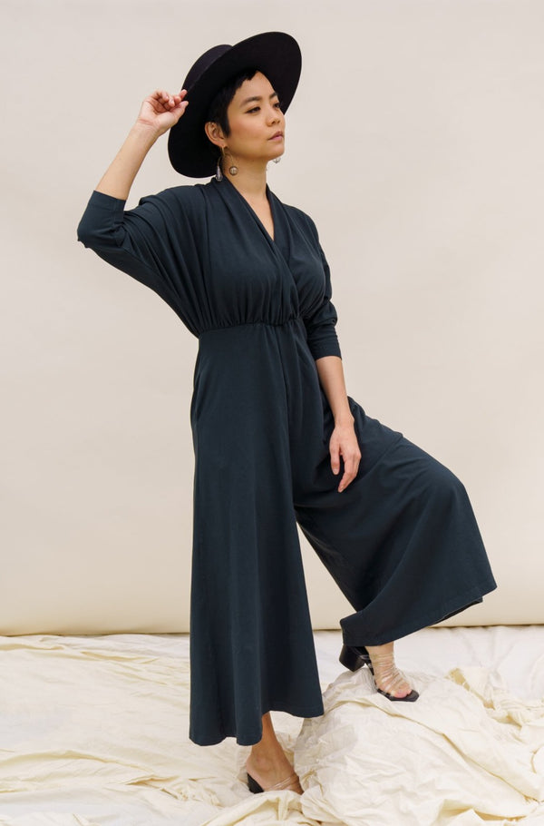 Sedona Dolman Sleeve Jumpsuit - Black Forest