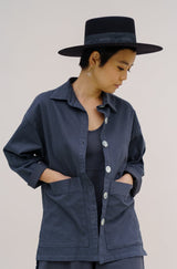 Painters Button Jacket - Zinc Grey