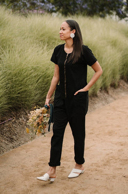 Together Zipper Jumpsuit - True Black