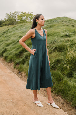 Lakeside Wide Leg Jumpsuit - Rich Teal