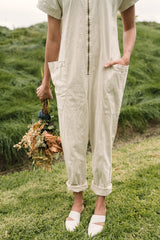 Together Zipper Jumpsuit - Champagne