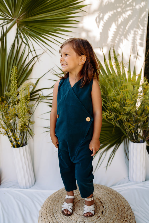 Kinship Wrap Jumper - Rich Teal