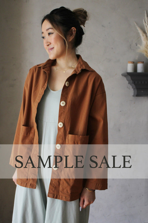 SAMPLE SALE | Painters Button Jacket - Saddle Brown