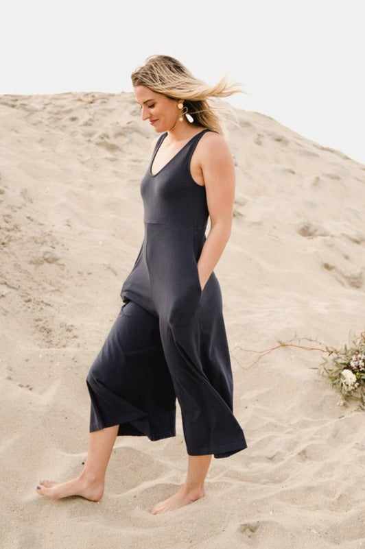 Women's Lakeside Wide Leg Jumpsuit in Vintage Navy